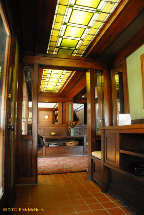 William Martin House Frank Lloyd Wright Entry Hall Foyer